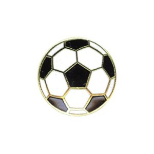Soccer Ball pin by Code Four Athletics