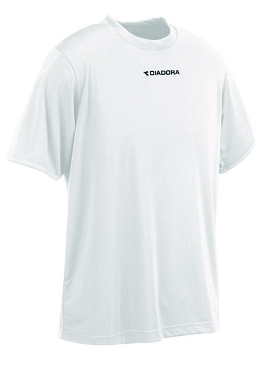 Diadora soccer short sleeve shirt in white, by Code Four Athletics