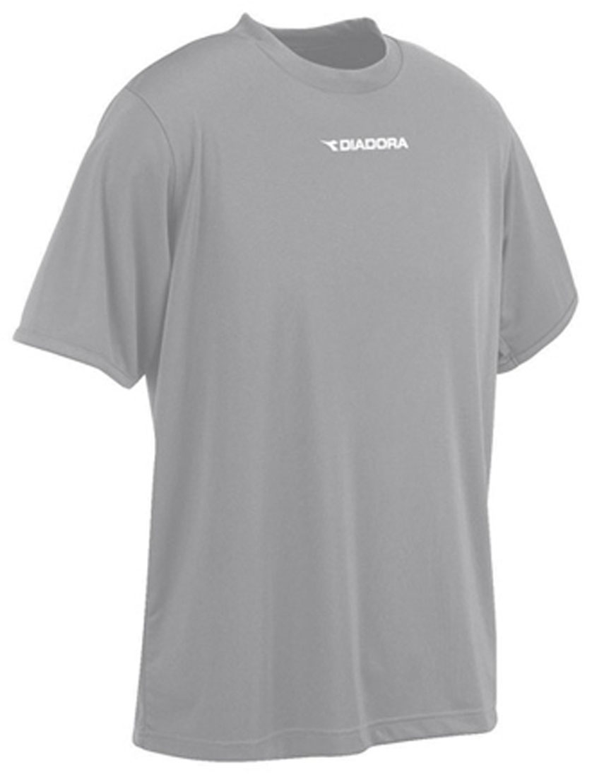 Diadora Soccer short sleeve shirt in silver, by Code Four Athletics