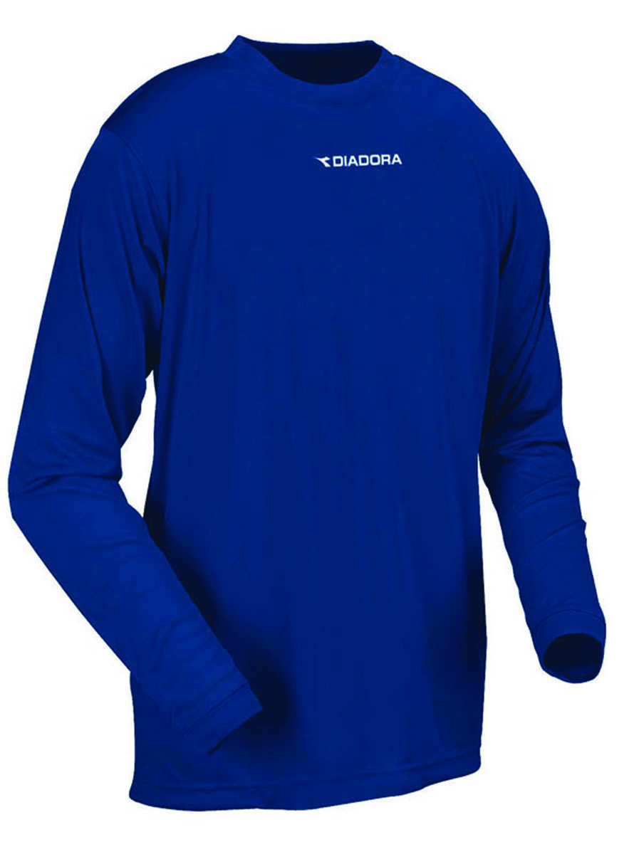 Diadora long sleeve Sfida soccer training shirt in navy by Code Four Athletics