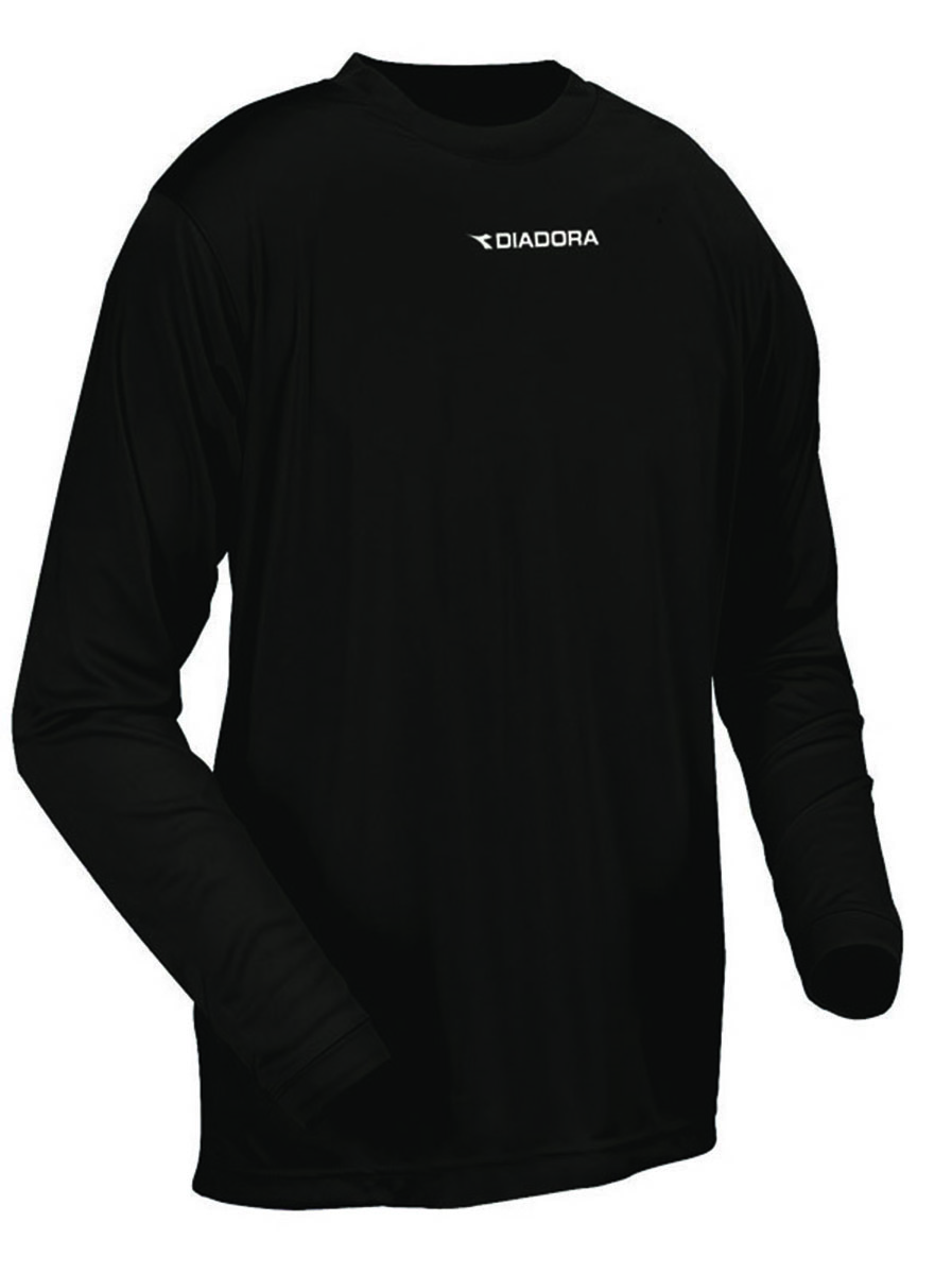 Diadora Sfida long sleeve soccer training shirt in black by Code Four Athletics