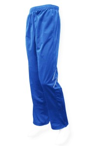 Poly tricot pant in royal by Code Four Athletics