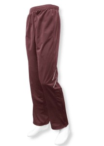 Tricot track pant in maroon by Code Four Athletics