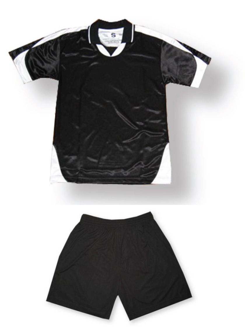 Alpha soccer uniform kit in black/white by Code Four Athletics