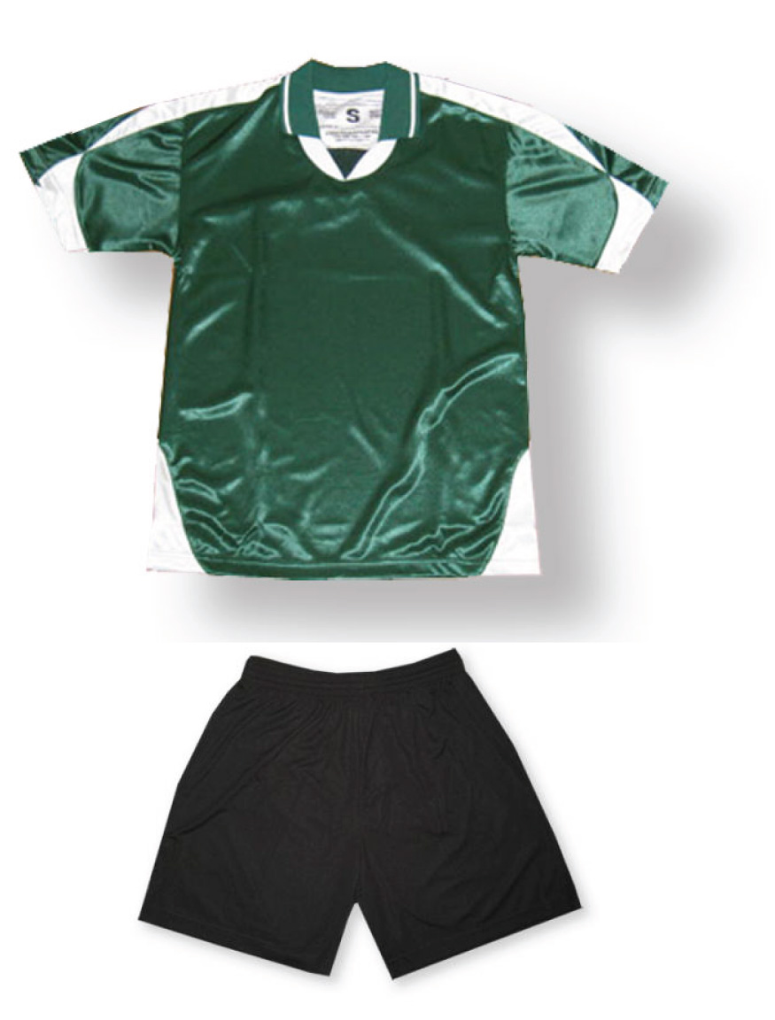 Alpha soccer uniform kit in forest/white by Code Four Athletics
