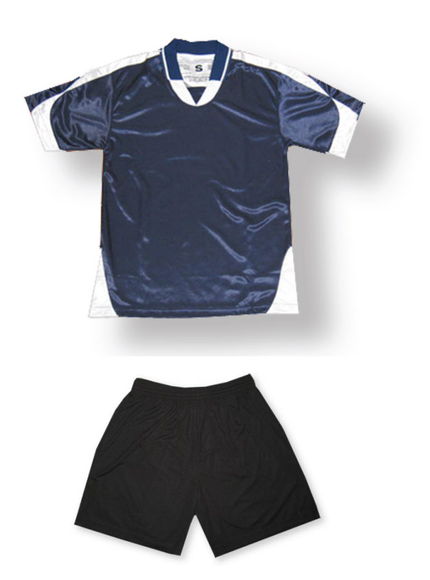 Alpha soccer uniform kit in navy/white by Code Four Athletics