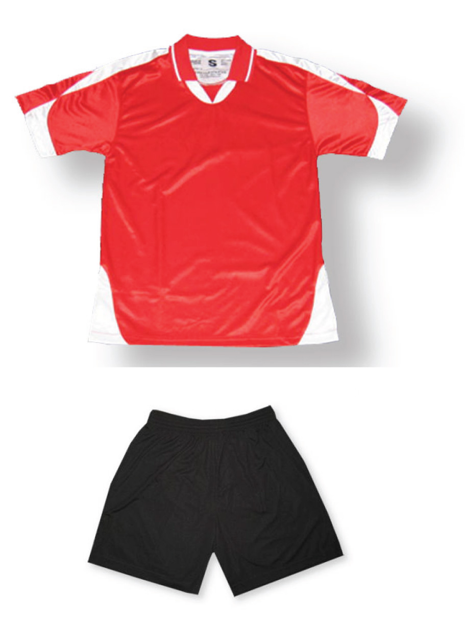 Alpha soccer uniform kit in red/white by Code Four Athletics
