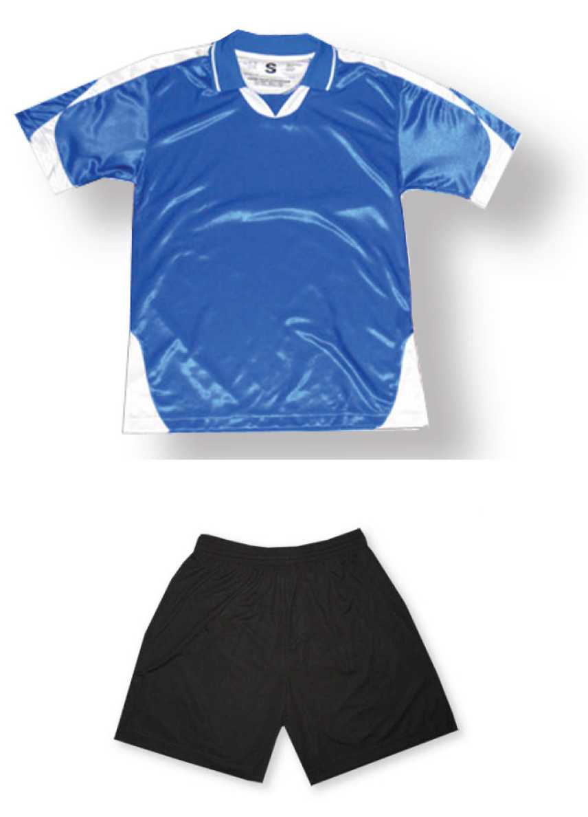 Alpha Soccer Uniform kit in royal/white by Code Four Ahletics