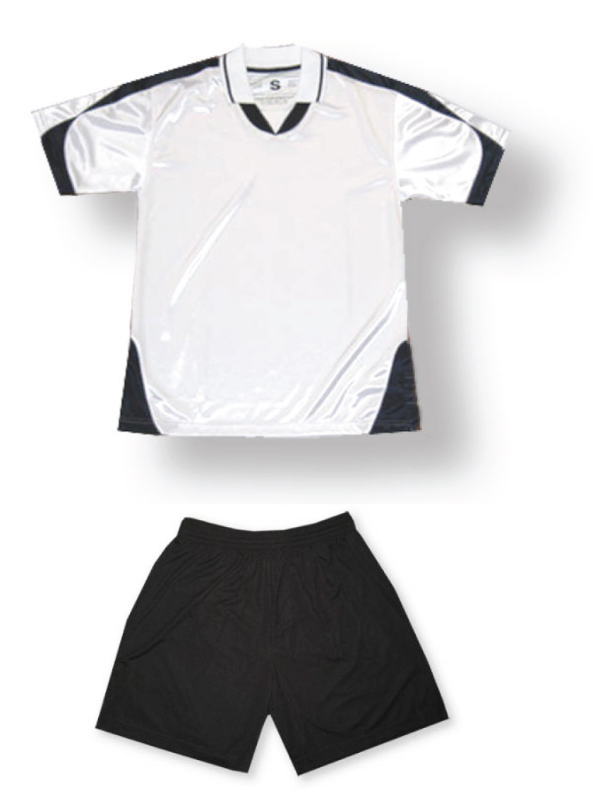 Alpha soccer uniform kit in white/black by Code Four Athletics