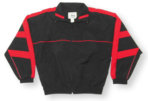 Normandy jacket in black/red