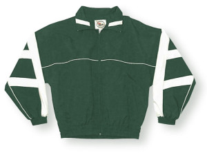Normandy jacket in forest/white