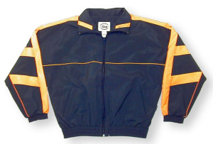 Normandy jacket in navy/gold