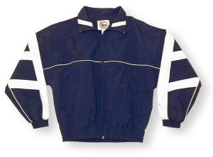 Normandy jacket in navy/white