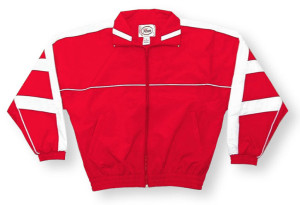 Normandy jacket in red/white