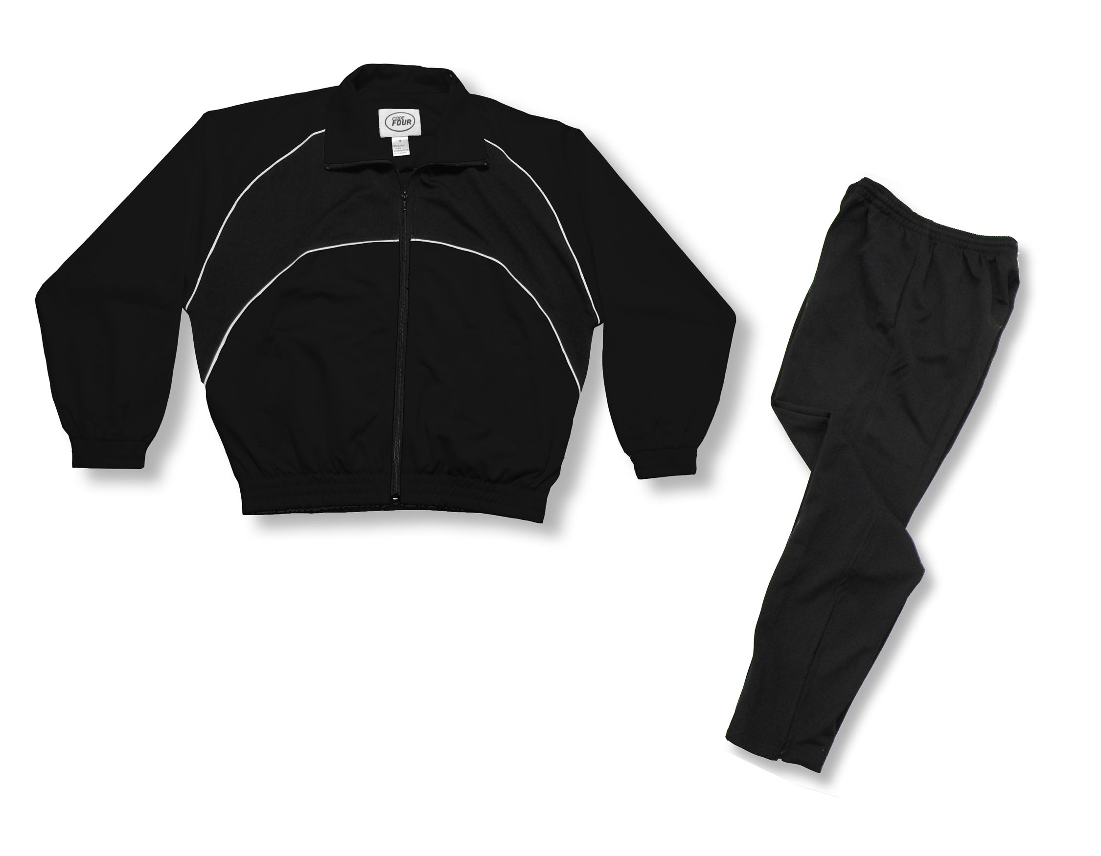 Crossfire Primo warmup set in black by Code Four Athletics