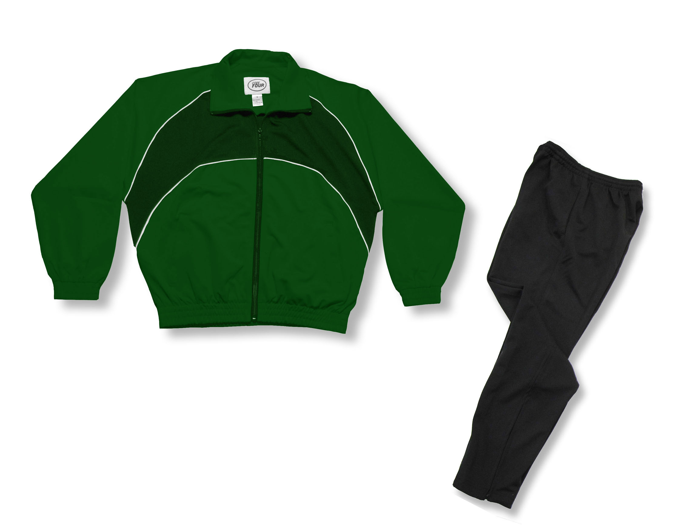 Crossfire Primo soccer warmup set in forest by Code Four Athletics