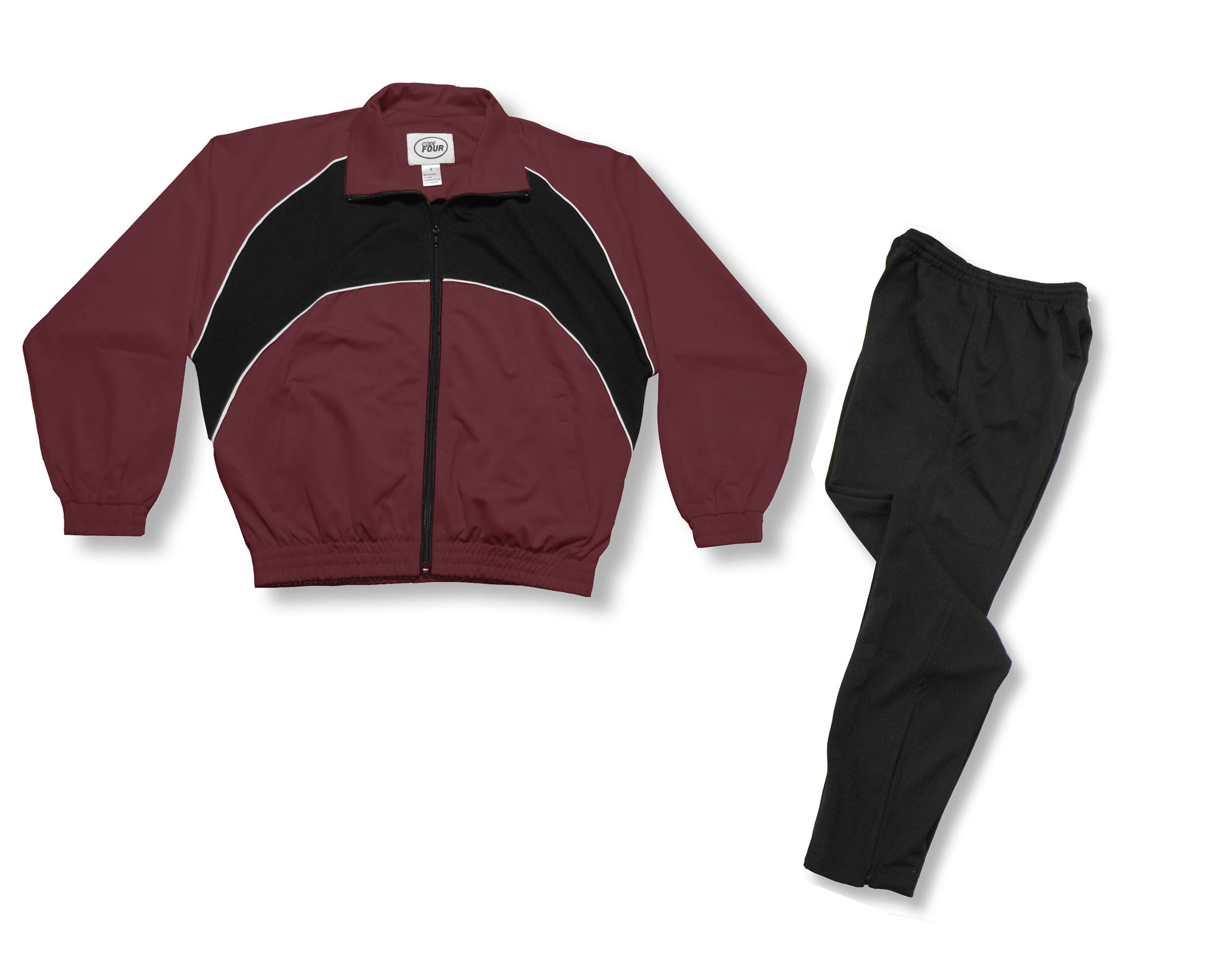 Crossfire Primo soccer warmup set in maroon by Code Four Athletisc