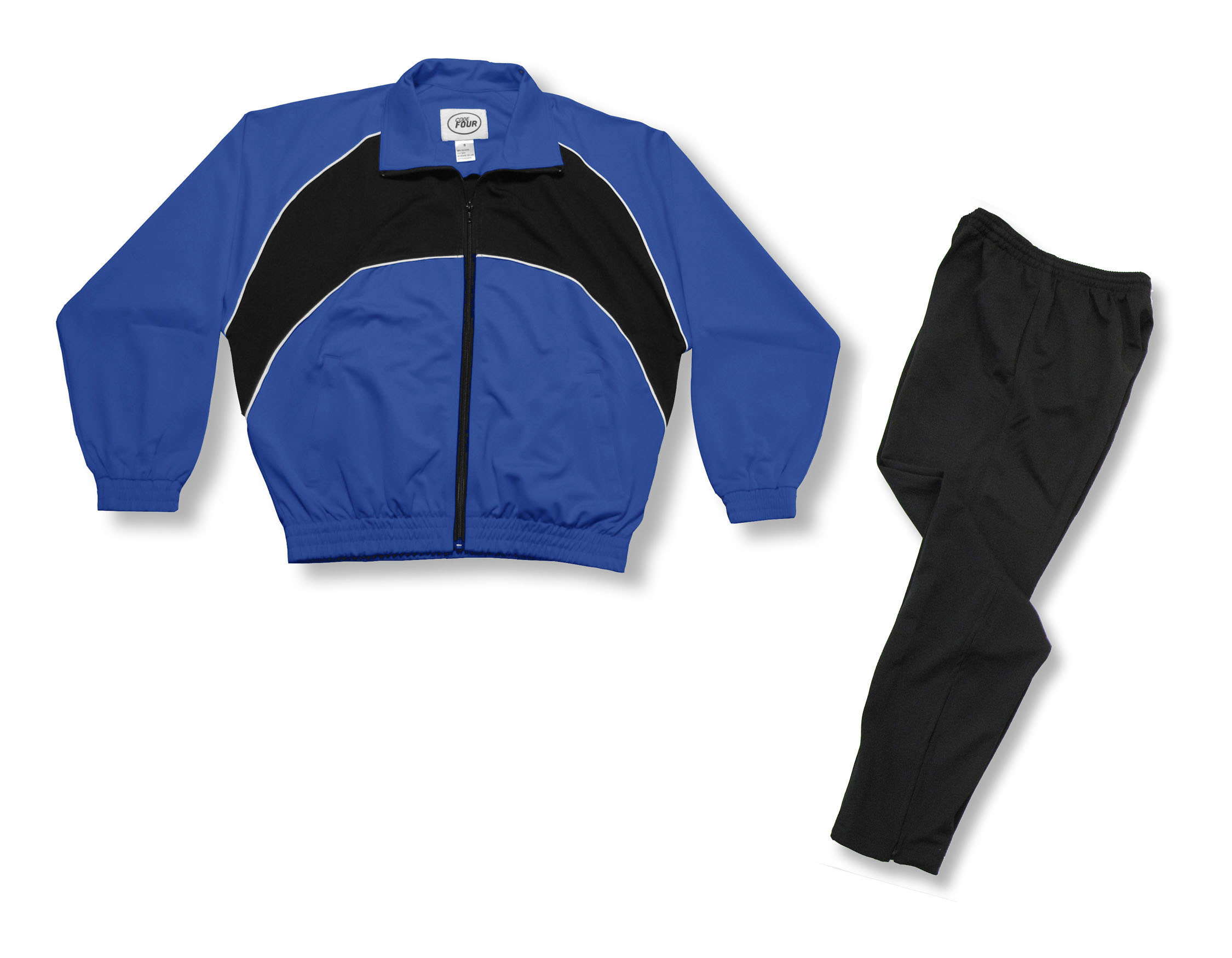 Crossfire Primo soccer warmup set in royal / black by Code Four Athletics