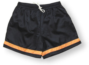 Vashon soccer shorts by Code Four Athletics in black/gold