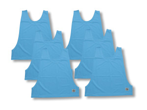 Soccer pinnies 6-pack by Code Four Athletics in Columbia Blue