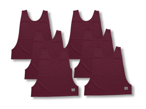 Soccer pinnies 6-pk by Code Four Athletics in maroon