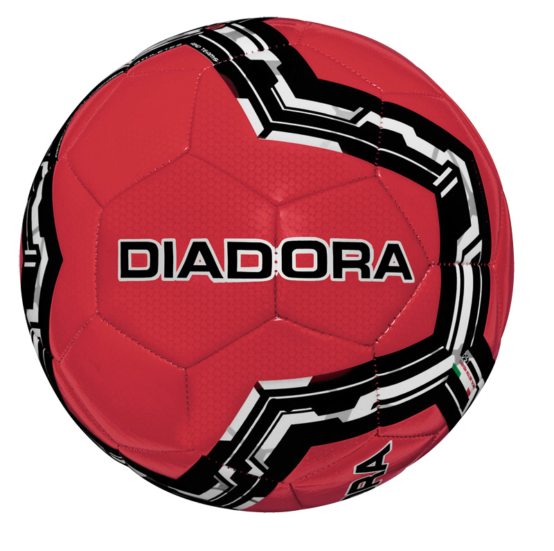 Diadora Lido soccer ball in red by Code Four Athletics