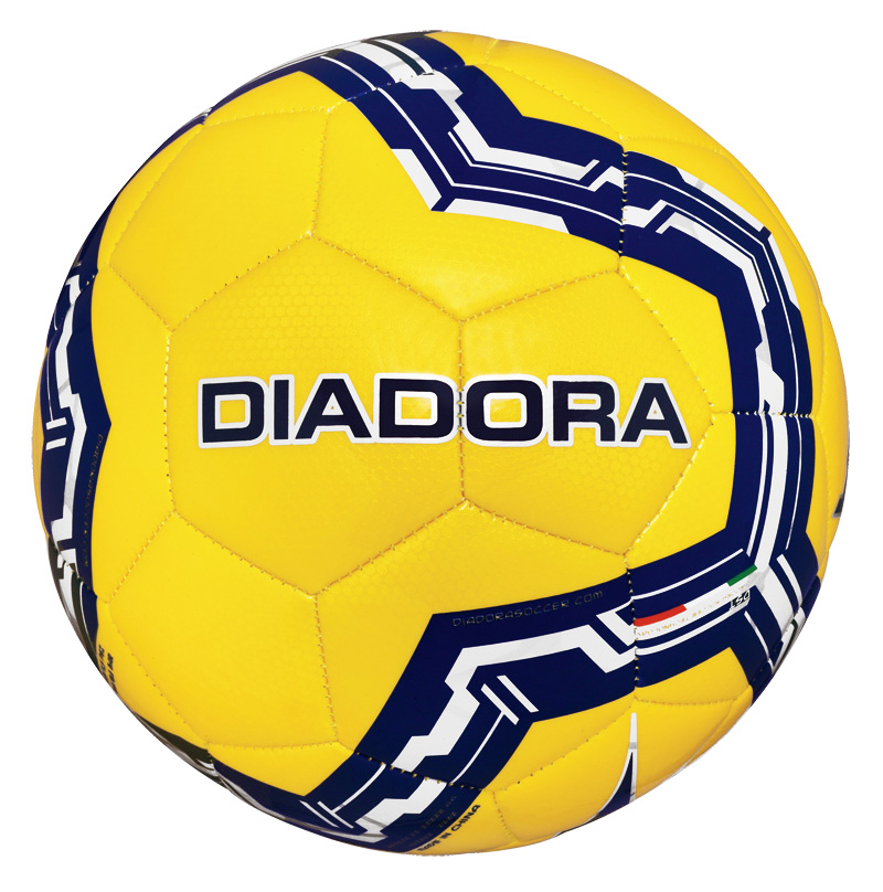 Diadora Lido soccer ball in yellow by Code Four Athletics