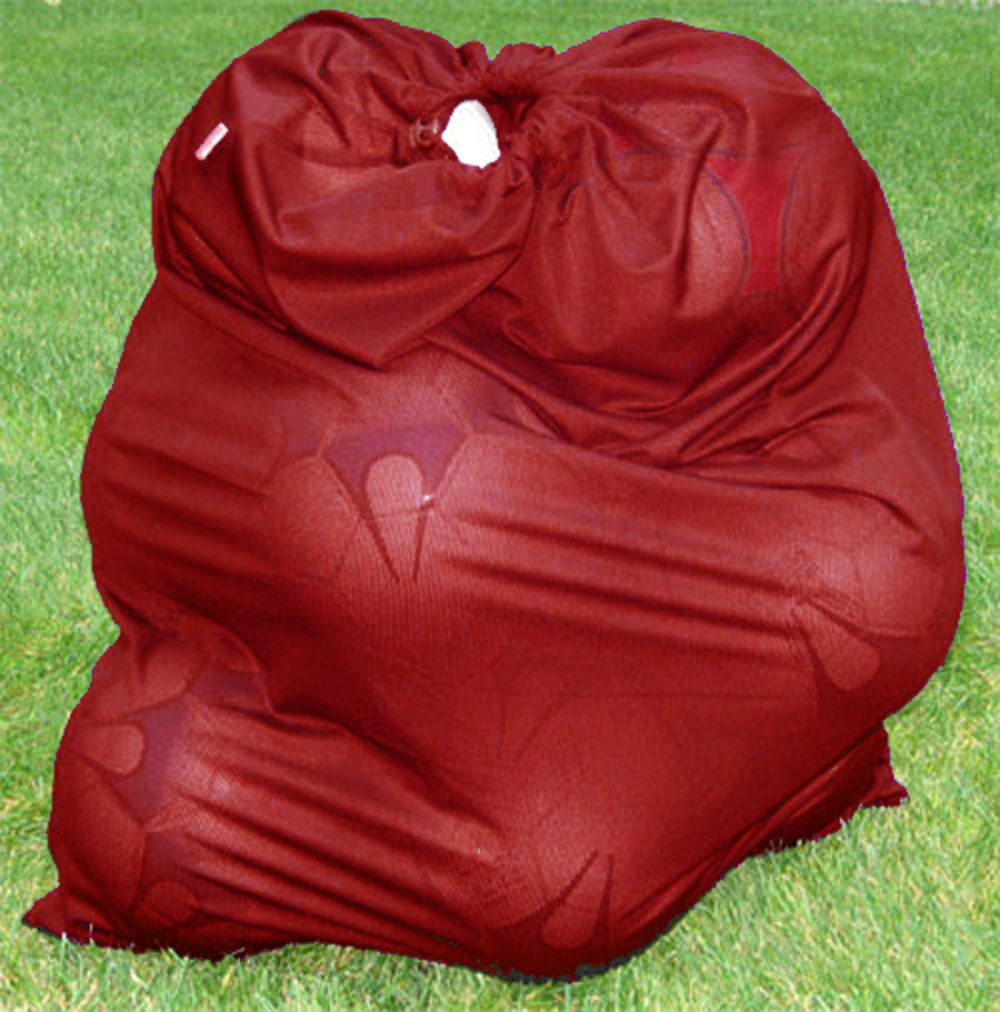 Soccer ball / sports equipment bag in maroon by Code Four Athletics