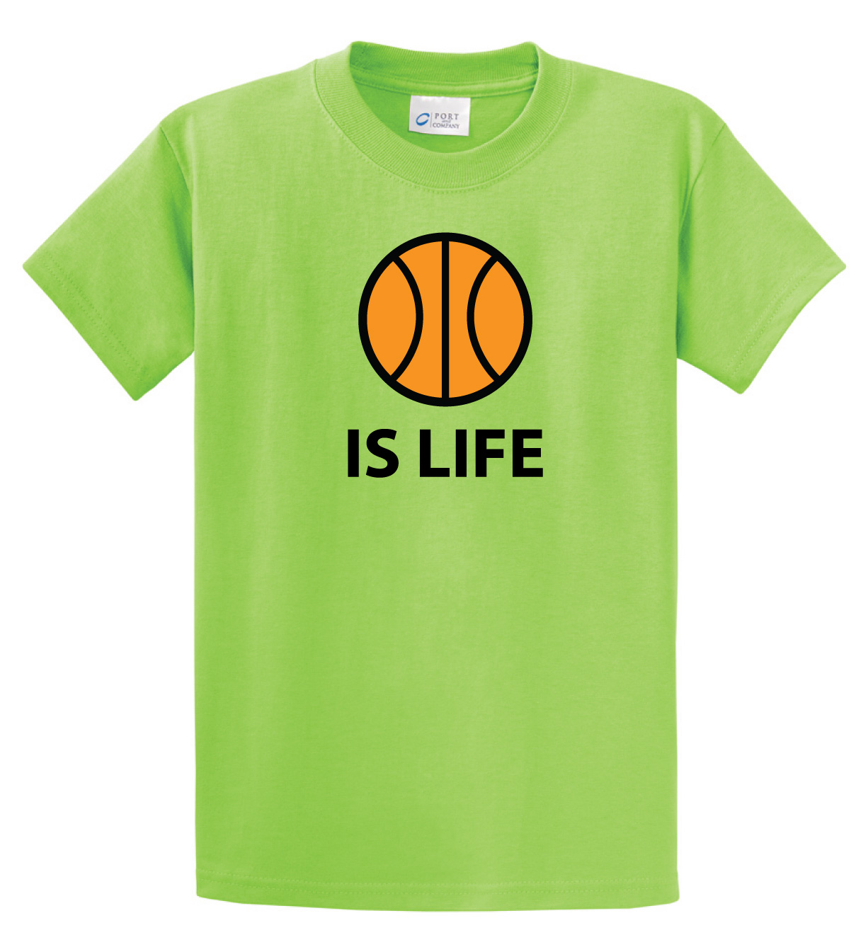 Basketball Is Life Tshirt (Basketball Edition) in lime by Code Four Athletics