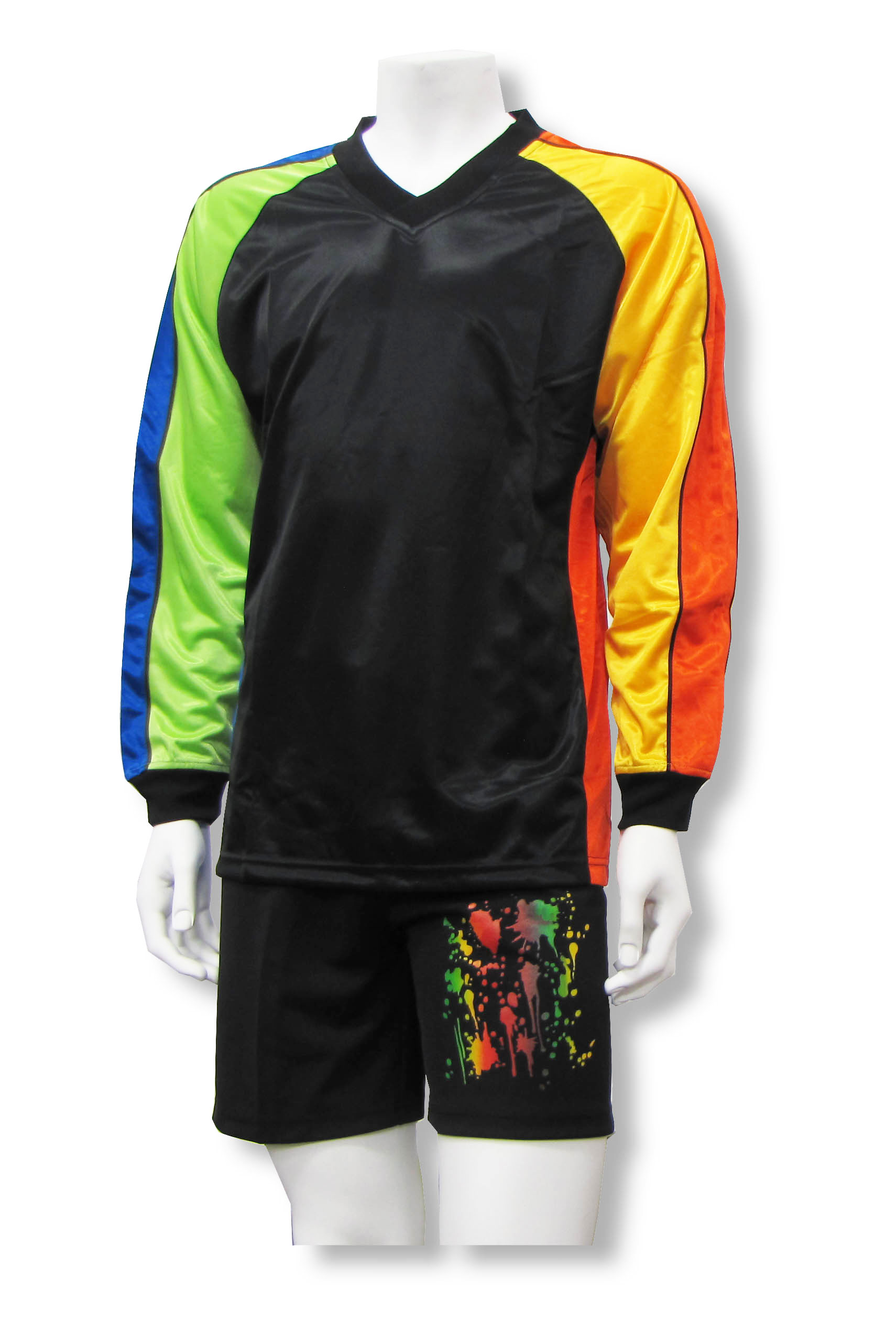 Blast long-sleeve soccer goalie set with jersey and shorts by Code Four Athletics