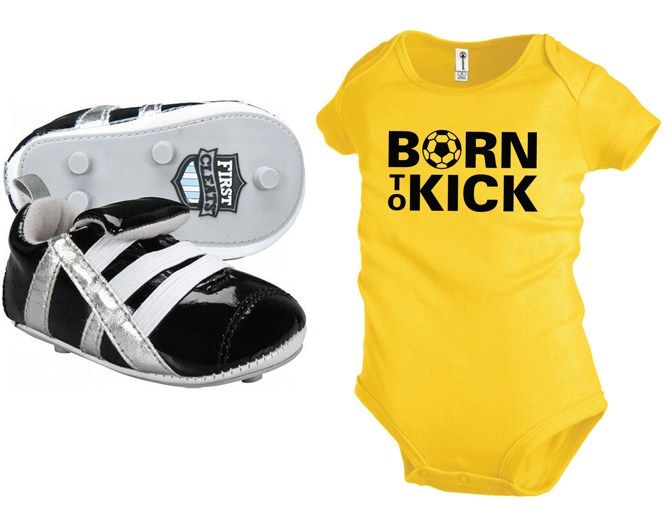 BornToKick_blackshoe_yellowonesie