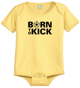Born To Kick baby onesie