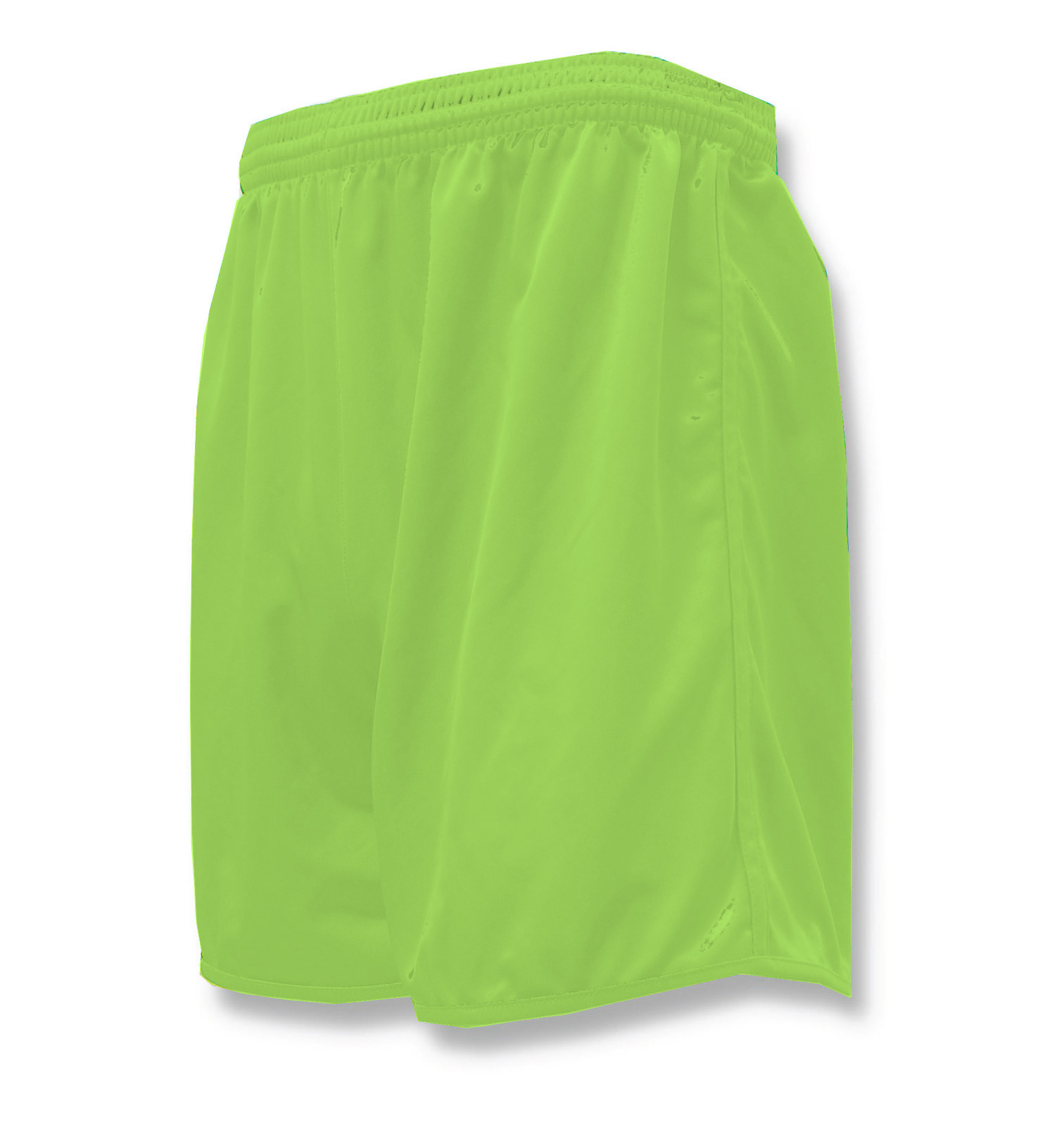 Bravo soccer shorts in lime by Code Four Athletics