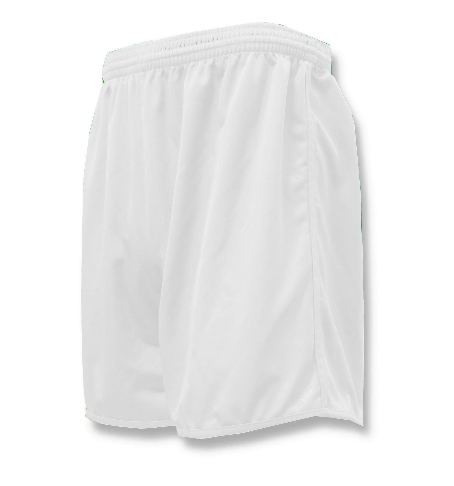 Bravo soccer shorts in white by Code Four Athletics