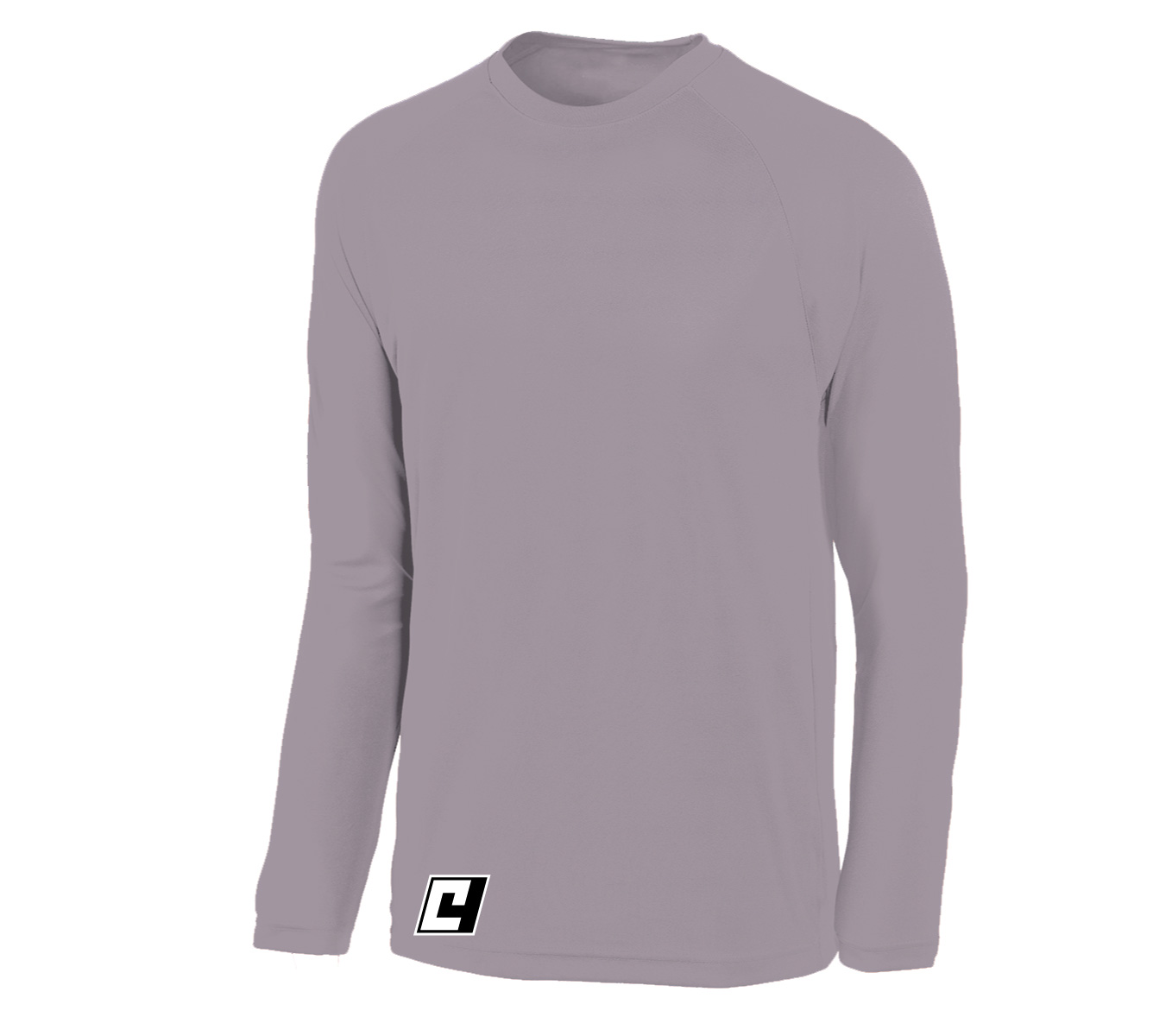 C4 long sleeve basketball shooting shirt in athletic grey by Code Four Athletics