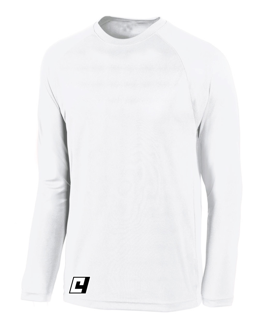 C4 long sleeve basketball shooting shirt in white by Code Four Athletics