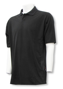Code 4 golf polo in black