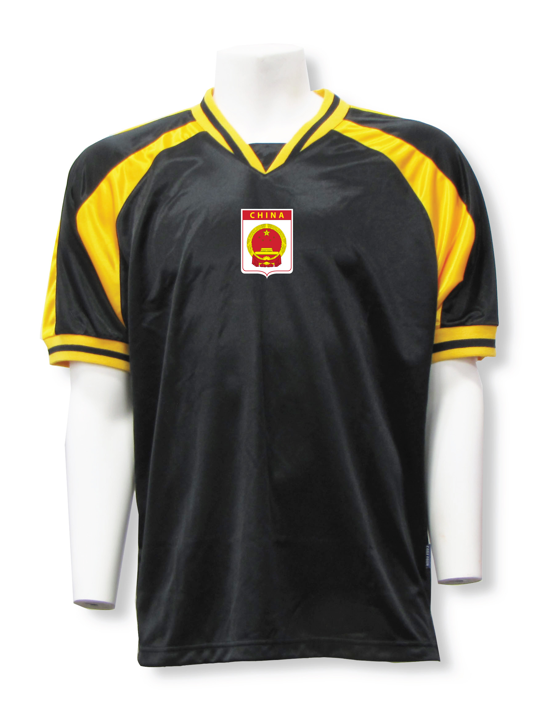 China soccer jersey in black/gold Spitfire