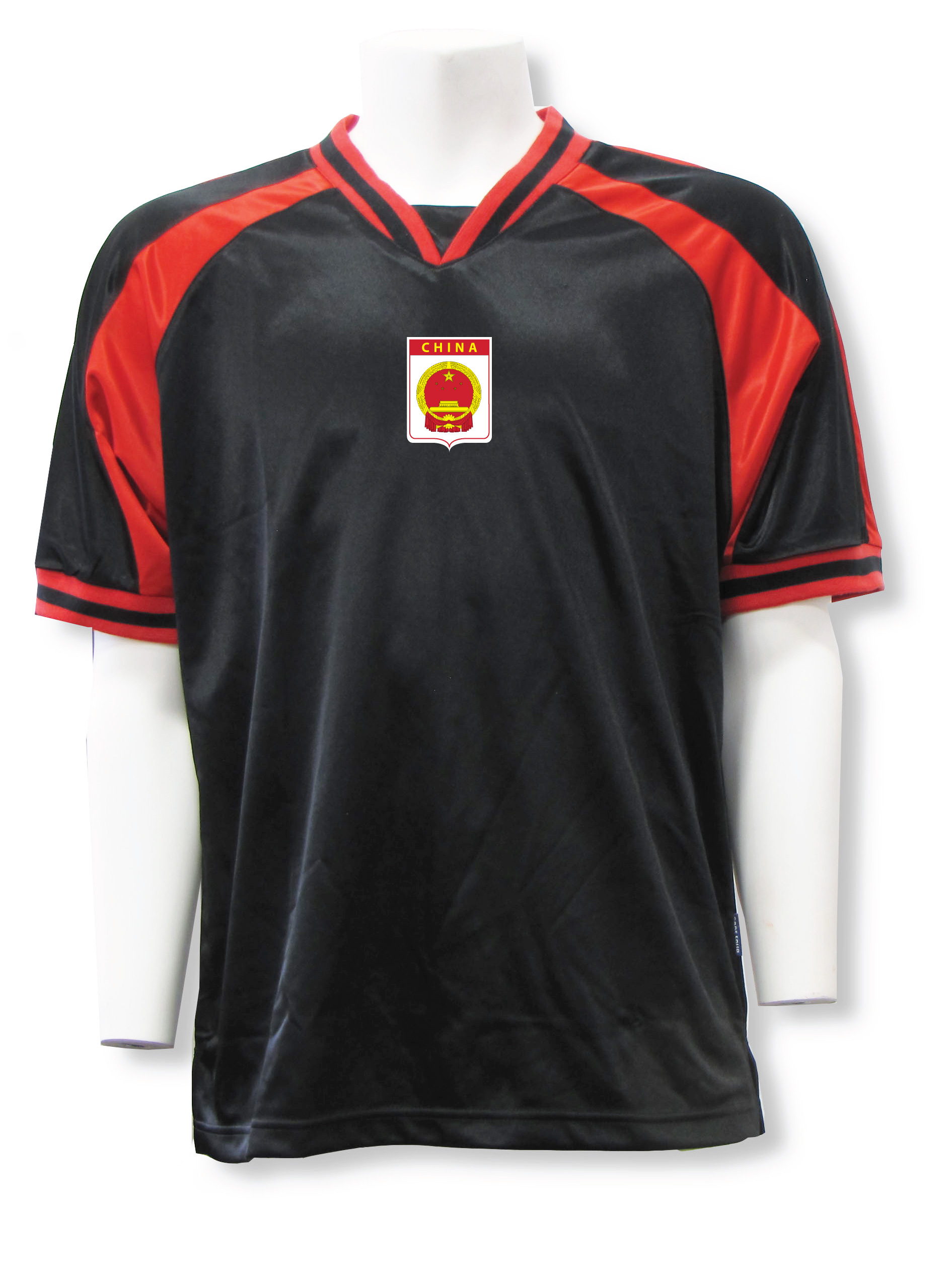 China soccer jersey in black/red Spitfire