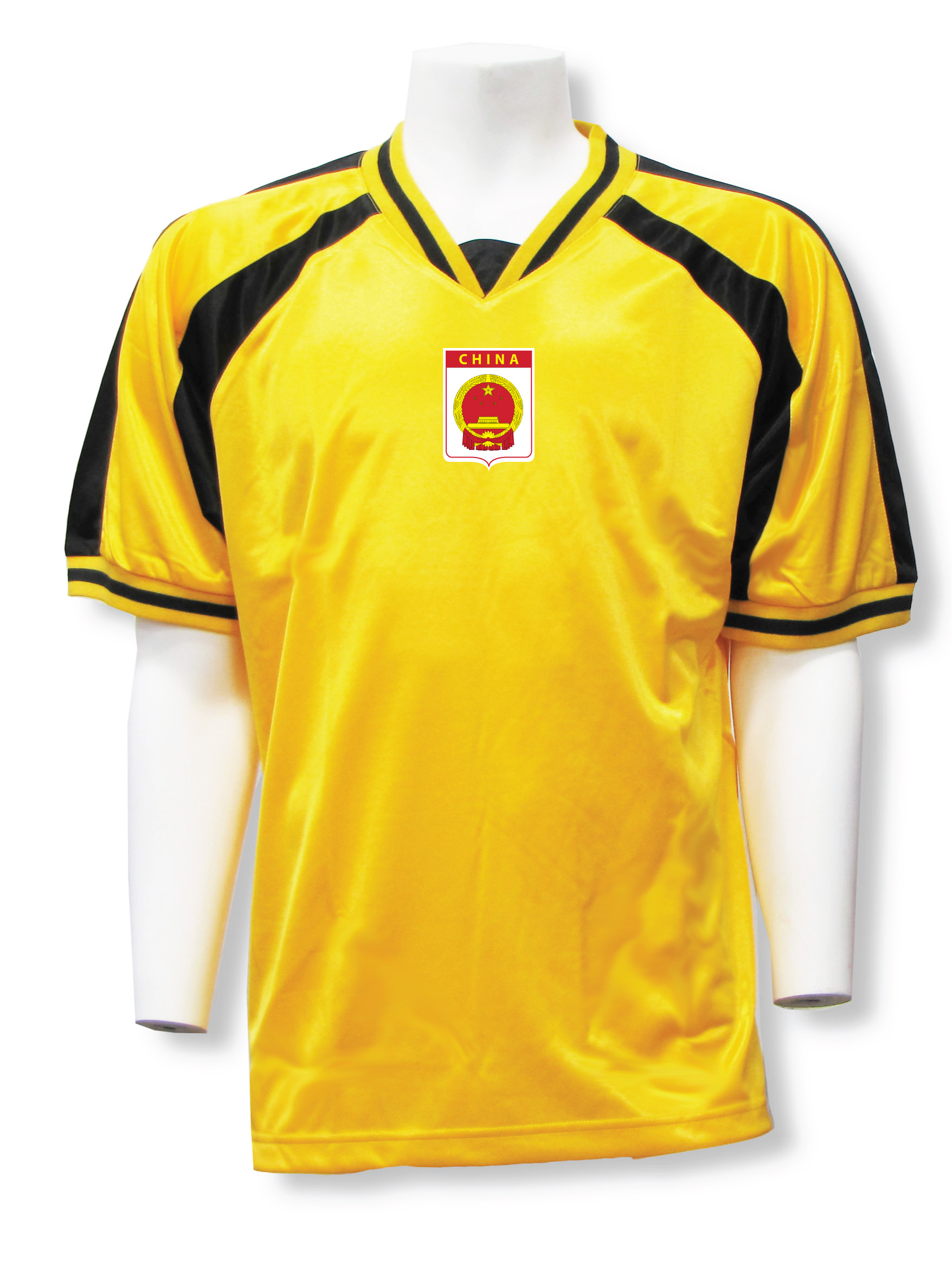China soccer jersey in gold/black Spitifire