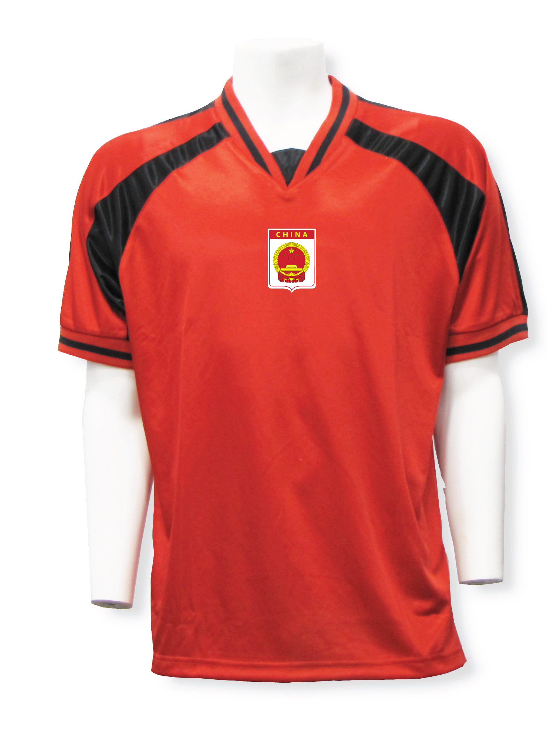 China soccer jersey in red/black Spitfire