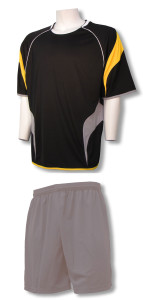 Columbus soccer uniform kit with silver shorts by Code Four Athletics