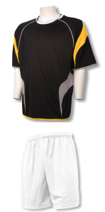 Columbus soccer uniform kit with white shorts by Code Four Athletics