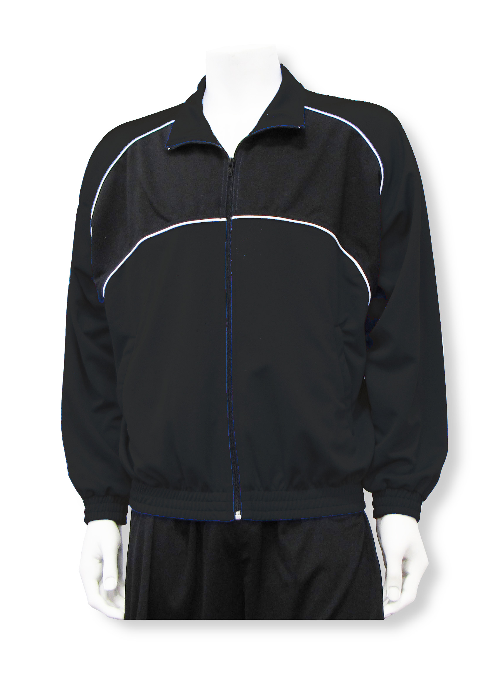 Crossfire soccer warmup jacket in black by Code Four Athletics