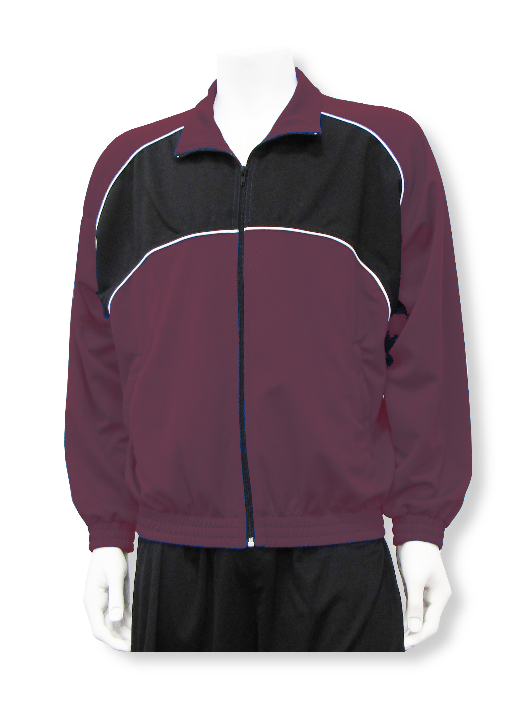Crossfire soccer warm up jacket in maroon by Code Four Athletics
