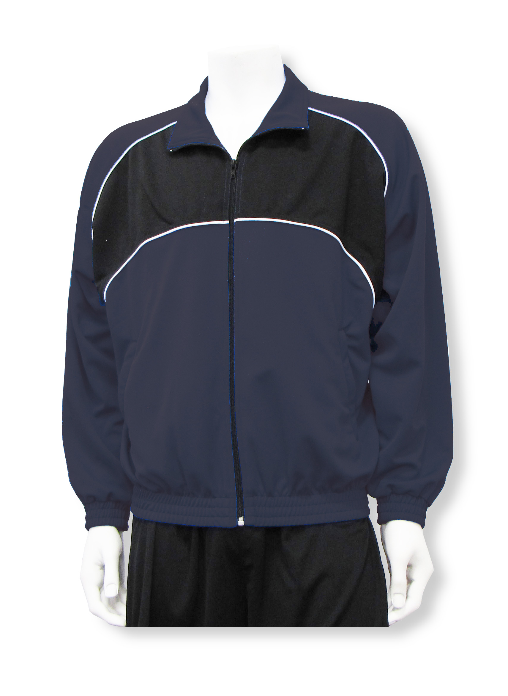 Crossfire soccer warmup jacket in navy/black by Code Four Athletics