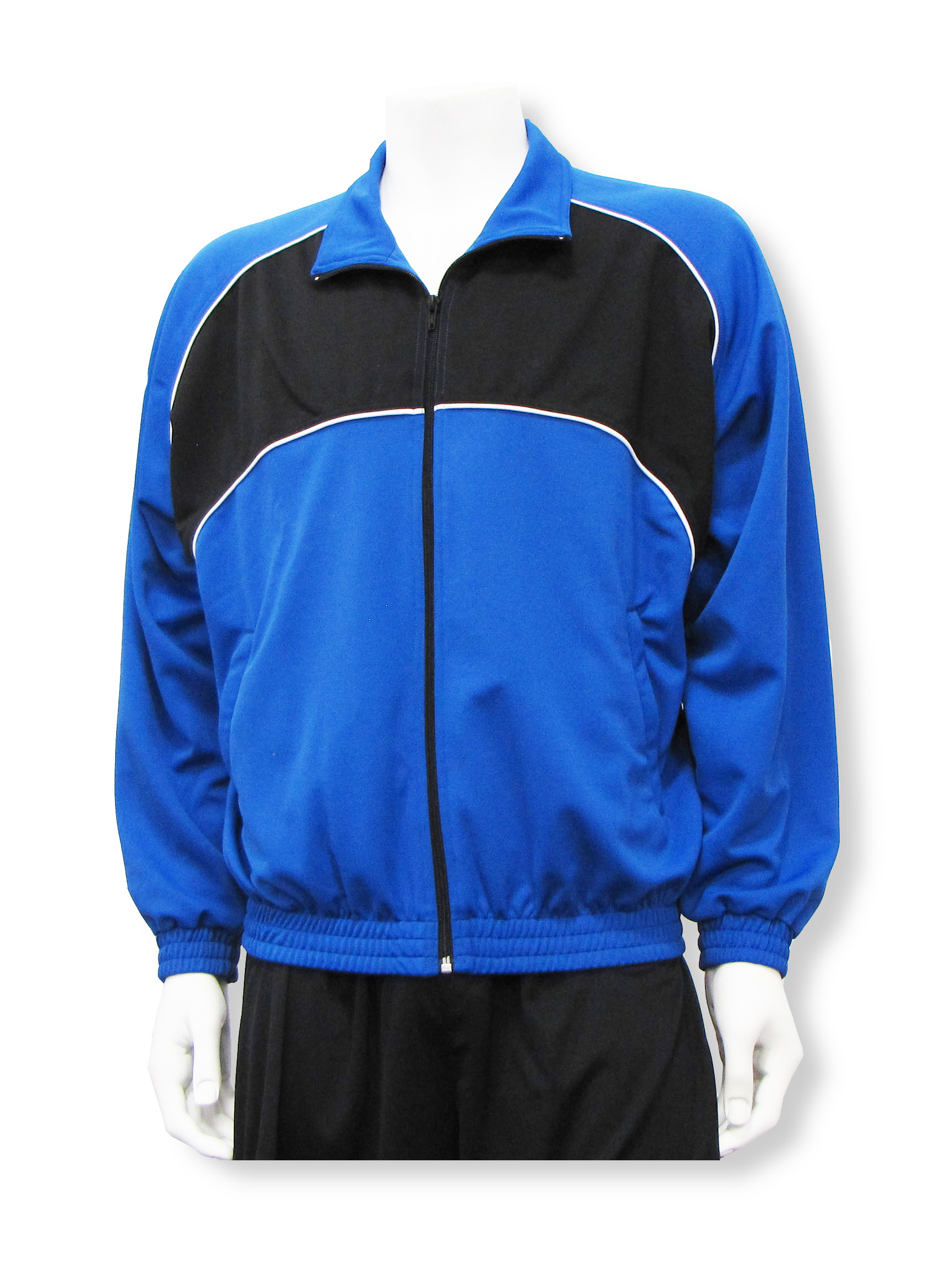 Crossfire soccer warm up jacket in royal/black by Code Four Athletics