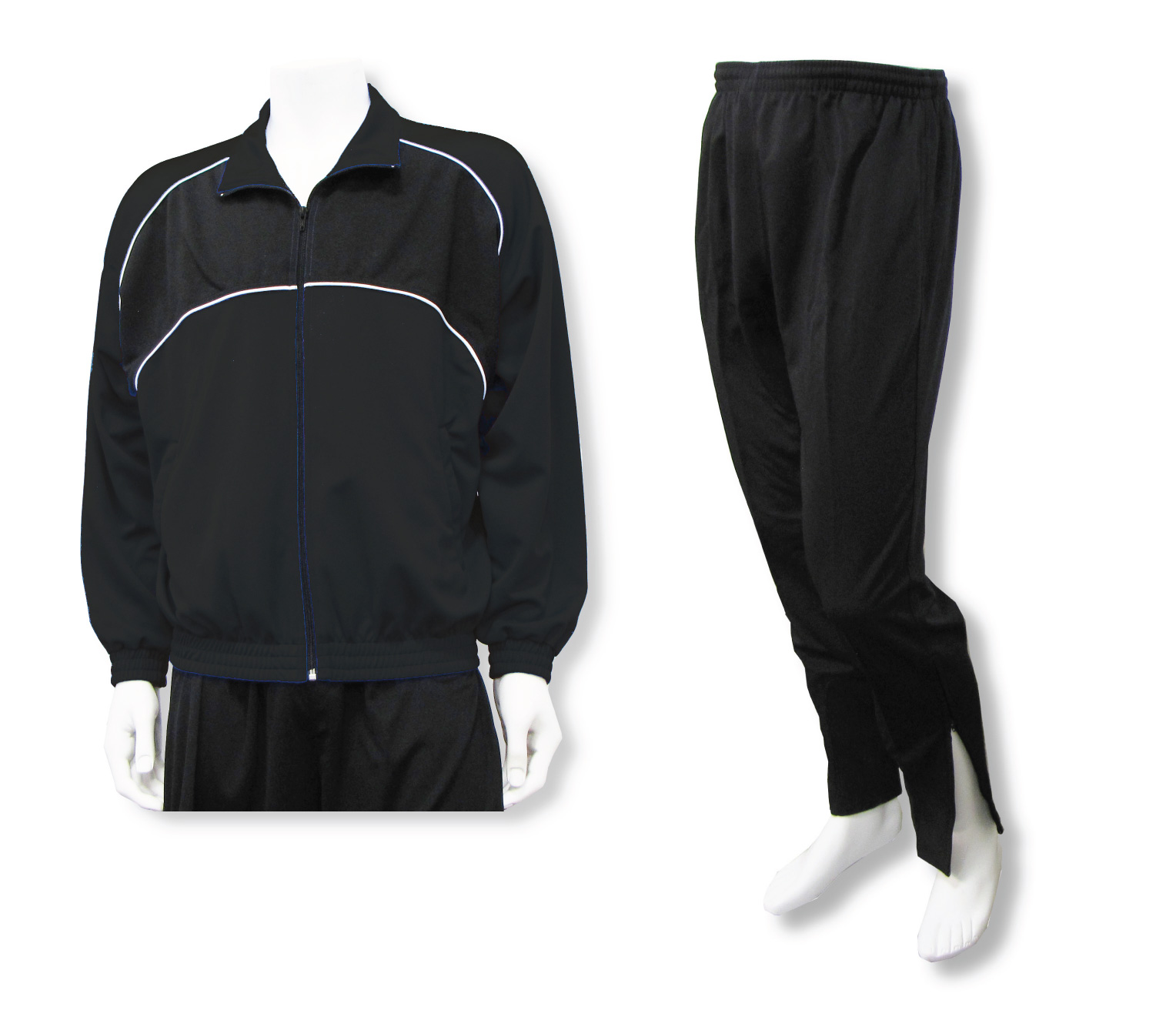 Crossfire soccer warmup set in black by Code Four Athletics