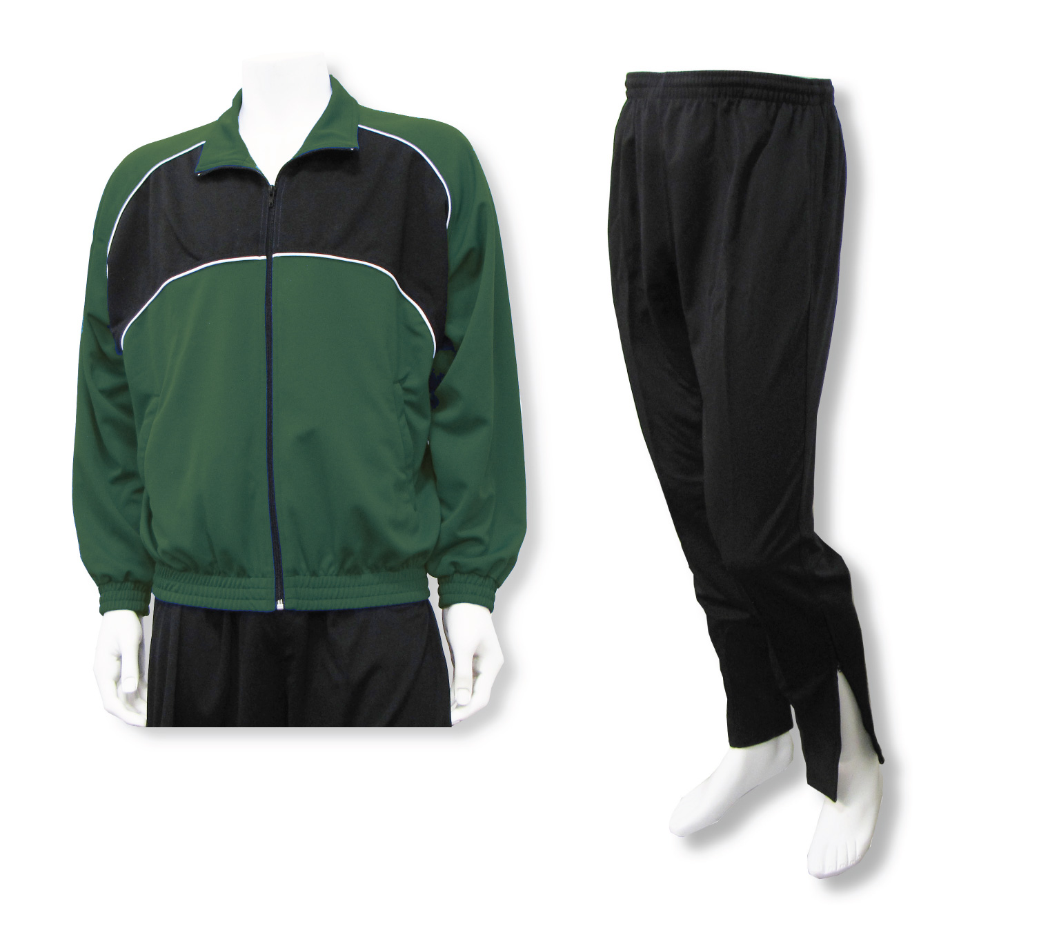 Crossfire soccer warmup set in forest/black by Code Four Athletics