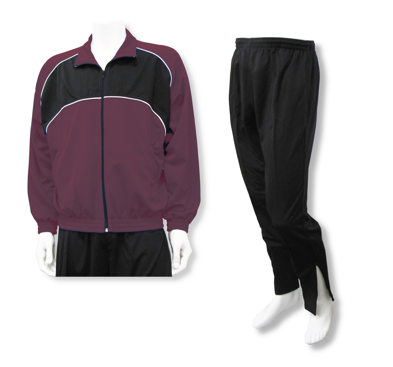 Crossfire soccer jacket and pant set in maroon by Code Four Athletics